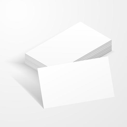 Blank visitkort mockup mall skapad av vektor.