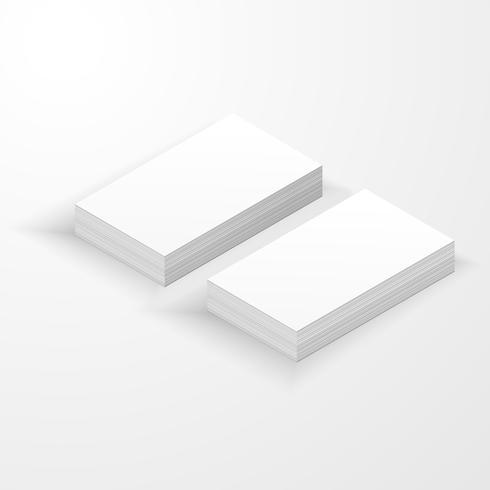 Blanco visitekaartje mockup sjabloon gemaakt door vector.
