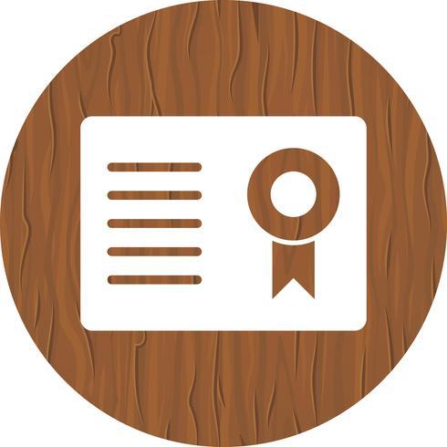 Certificado Icono de Diseño vector
