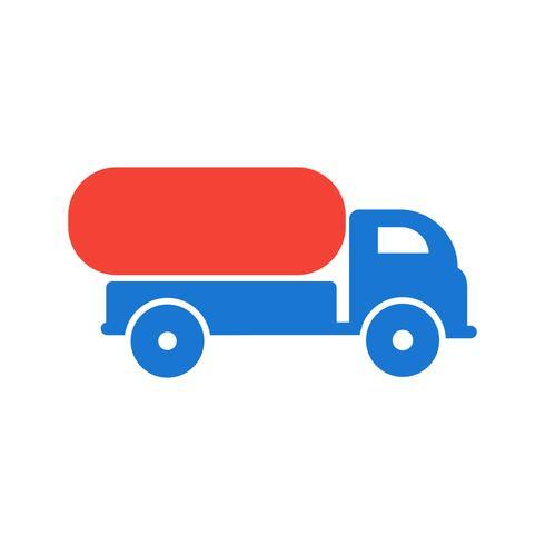 Design de ícone de caminhão tanque