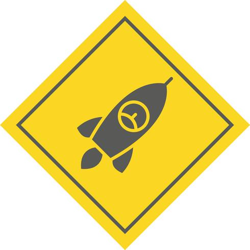 disegno dell'icona del razzo