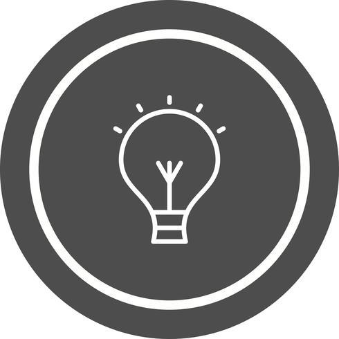Projeto do ícone do bulbo