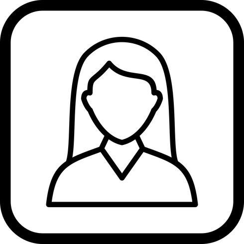 Disegno dell'icona dell'allievo femminile