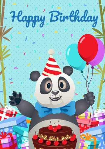 Cartão dos animais do feliz aniversario