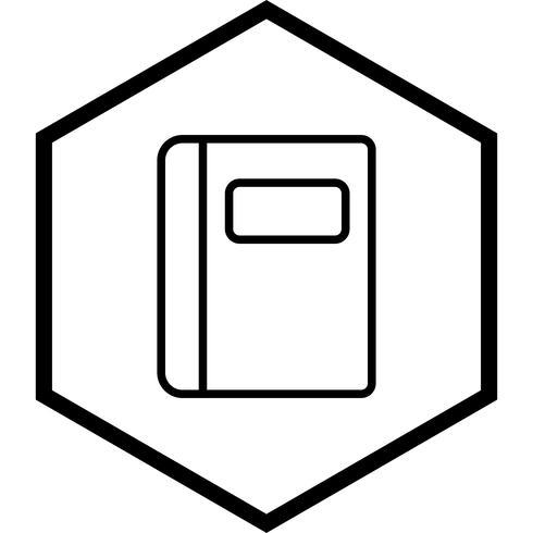 Diseño de icono de cuaderno