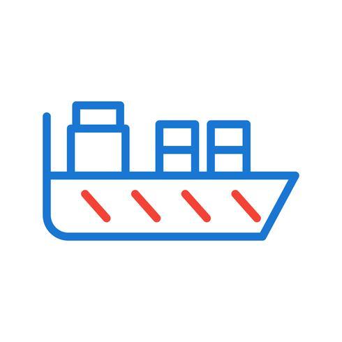 Design de ícone de navio