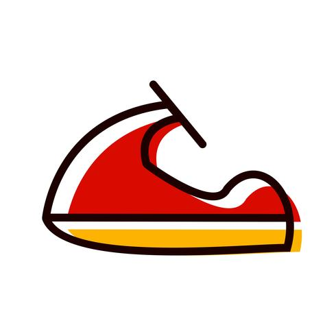 Design de ícone de jet ski