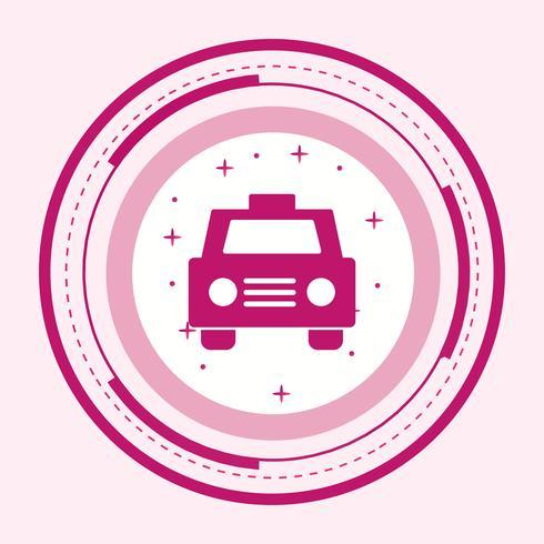 Design de ícone de táxi