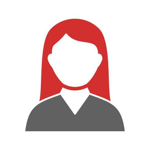 Diseño de icono de estudiante femenina
