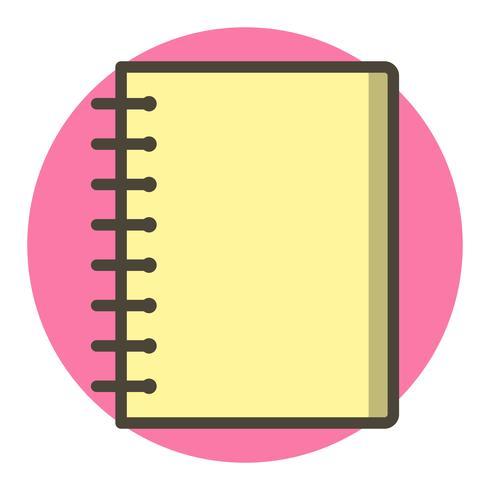 Spiral Notebook Icon Design