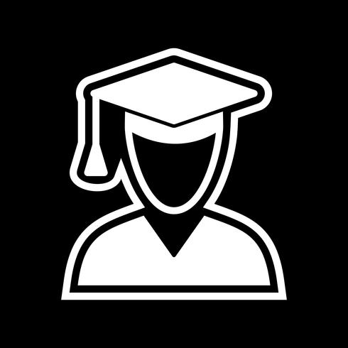 Conception d'icône étudiant masculin vecteur