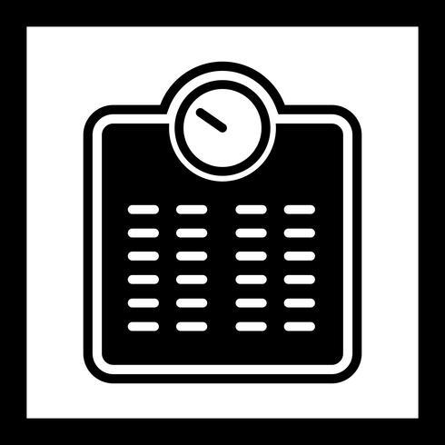 Design de ícone de máquina de ponderação