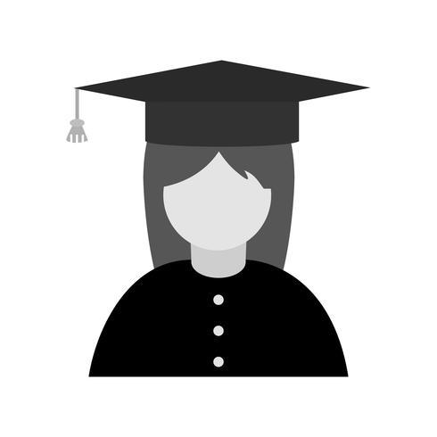Desenho de ícone de estudante feminino