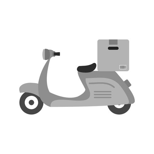 Design de ícone de moto de entrega