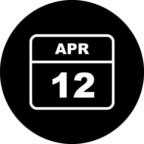 12 avril Calendrier d'une journée