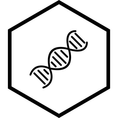 disegno dell'icona del DNA vettore