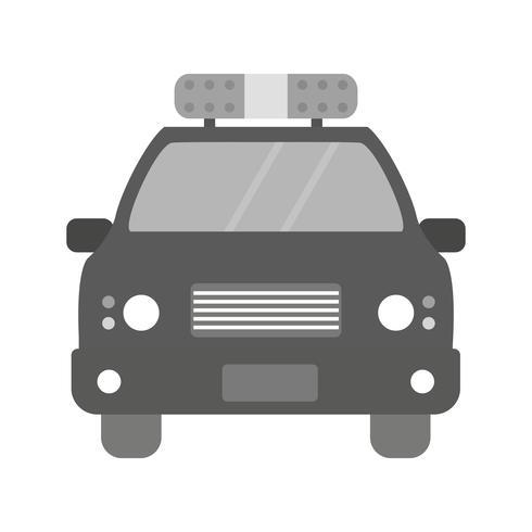 Projeto de ícone de carro de polícia