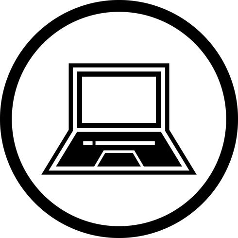 Diseño de icono de portátil
