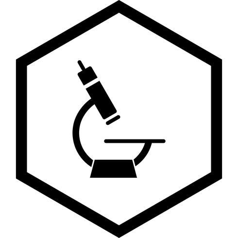Design de ícone de microscópio vetor