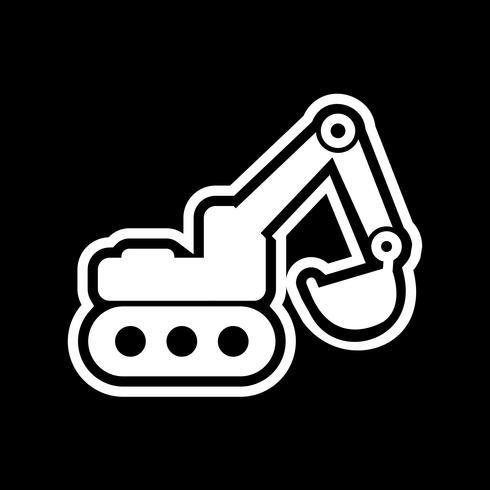 Design de ícone de escavadeira