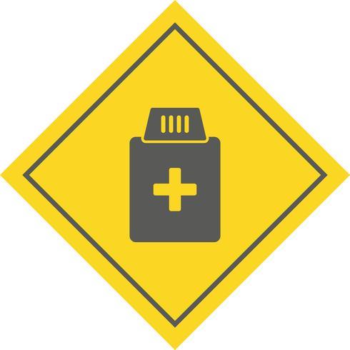 Medicine Bottle Icon Design vector