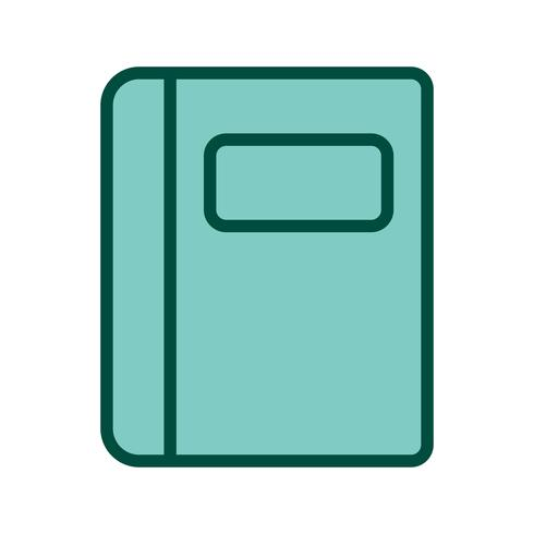 Disegno dell'icona del taccuino
