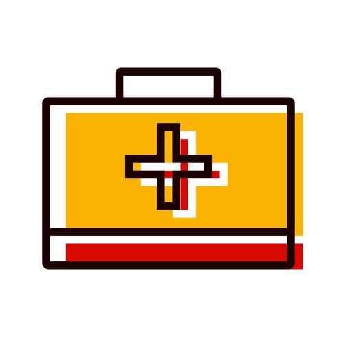 Caja de primeros auxilios Icono de diseño vector