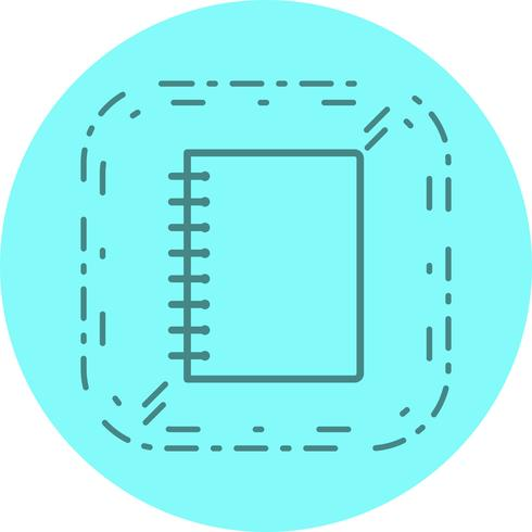 Cuaderno espiral icono de diseño