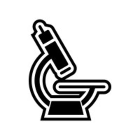 conception d'icône de microscope vecteur