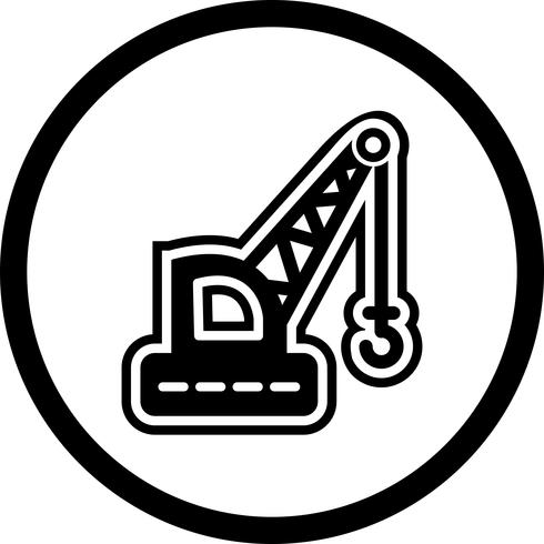 kraan pictogram ontwerp