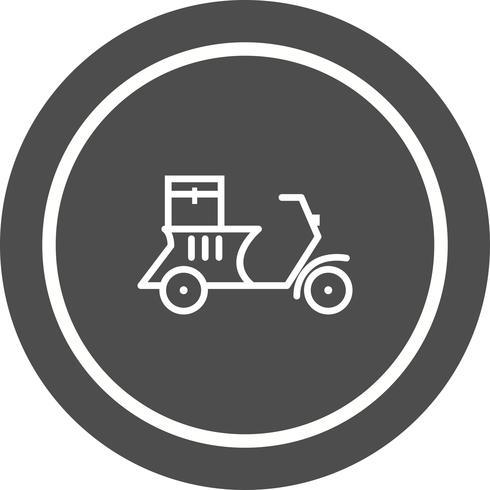 Entrega Moto Icono De Diseño vector