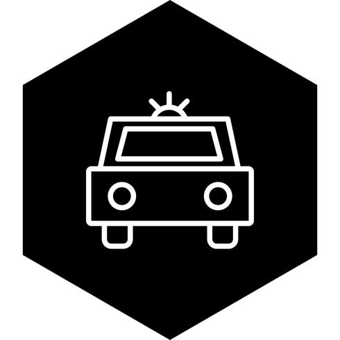 Police Car Icon Design vector