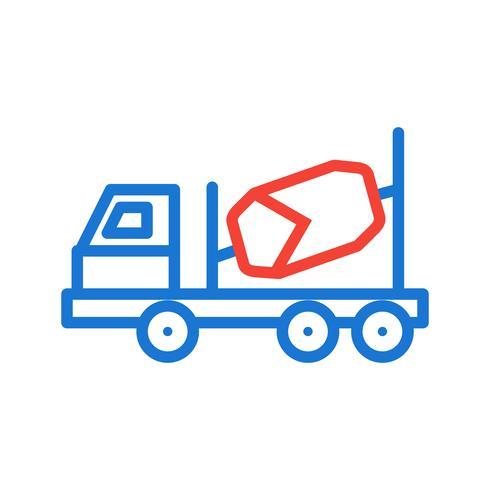 Concrete Mixer Icon Design vector