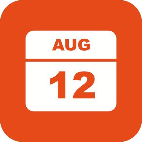 12 août Calendrier d'un jour