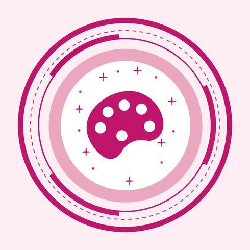 diseño de icono de color paleta vector