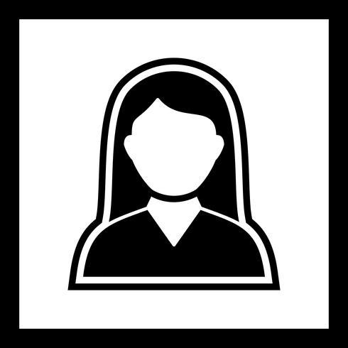 Female Student Icon Design vector