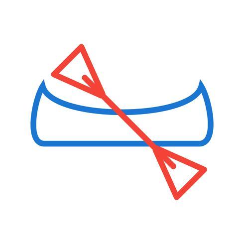 Diseño de iconos de canoas vector