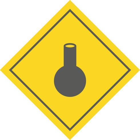 Diseño de icono de matraz vector