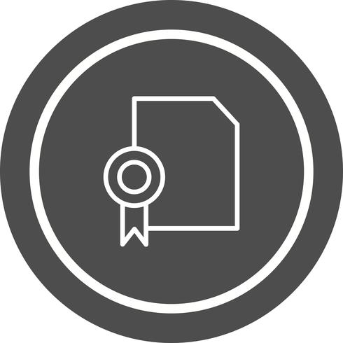 Diploma Icon Design vector