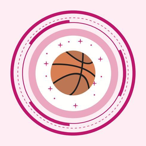 Disegno dell'icona della palla da basket