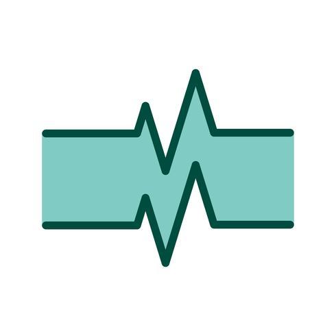 Ontwerp van het pictogram van de pulsfrequentie