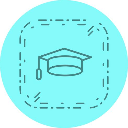 Diseño de icono de gorra de graduación vector