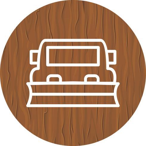 Snowplow Icon Design vector
