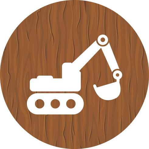 Excavator Icon Design vector