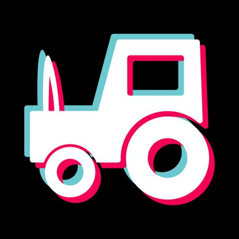 Tractor Icon Design vector