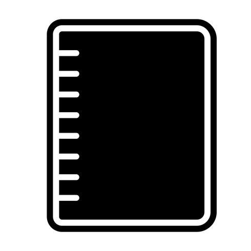 Design d'icône cahier à spirale