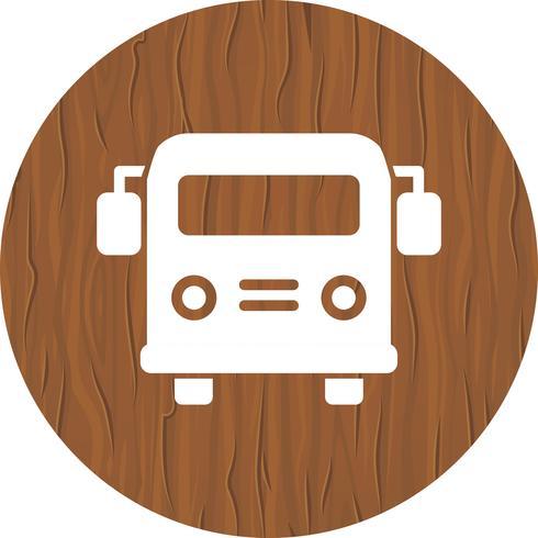 Diseño del ícono del autobús escolar. vector