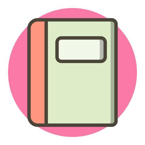 Diseño de icono de cuaderno vector