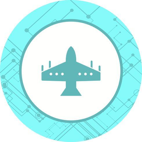 Diseño de icono de avión de combate vector