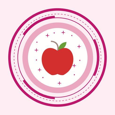 Design de ícone de maçã